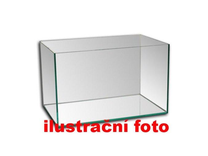 Akvárium lepené 50x30x30 cm obsah:45litrů sklo:4mm