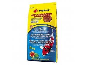 Tropical Goldfish Colour Sticks 4 kg krmivo pro koi karpy krmivo pro zlaté rybky granule pro ryby tyčinky plovocí