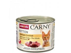 ANIMONDA konzerva CARNY Kitten - drůbeží koktejl 200g