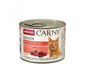 ANIMONDA konzerva CARNY Senior - hovězí + krůtí srdce 200g