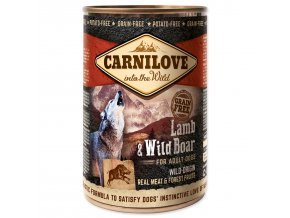 Konzerva CARNILOVE Dog Wild Meat Lamb & Wild Boar 400g