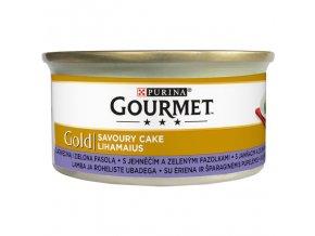 eco pack gourmet gold savoury cake kk s jehnecim a zelenymi fazolkami 24 85g