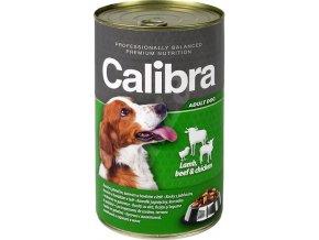 Calibra Dog konz. jehněčí+hovězí+kuřecí v želé 1240 g