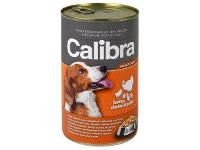 Calibra Dog konz. krůtí+kuřecí+těstoviny v želé 1240 g