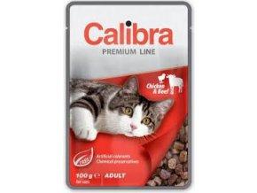 Calibra Cat kapsa Premium Adult Chicken & Beef 100 g