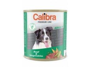 Calibra Dog konz.Premium Adult hovězí + zelenina 800 g