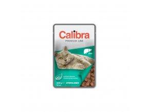 Calibra Cat kapsa Premium Sterilised Liver 100g
