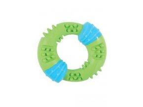 Hračka pes TPR SUNSET kroužek 15cm zelená Zolux