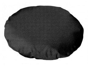 Polštář 50cm striž se zipem černý polyester