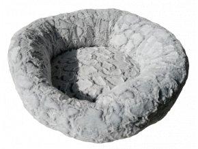 Košík kolo polyester 50cm stříbrná