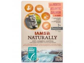 Kapsička IAMS Cat Naturally Senior with North Atlantic Salmon in Gravy