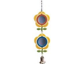Závěsná zrcátka a zvoneček 28 cm