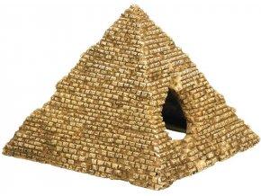 Akvarijní dekorace pyramida 10,5 x 10 x 8 cm