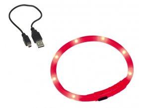 Nobby Led Visible svítící kroužek silikon červená 70cm