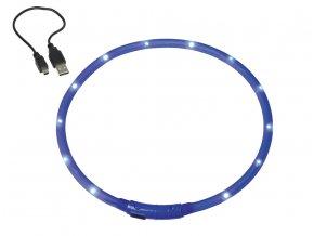Nobby Led Visible svítící kroužek silikon modrá 70cm