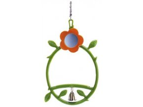 Nobby hračka pro malé papoušky houpačka, zrcátko a zvoneček 24cm