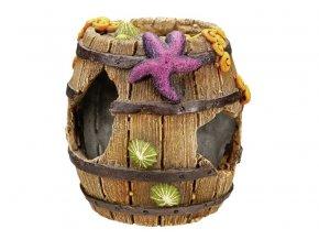 Nobby akvarijní dekorace sud 8,5 x 8,5 x 9 cm