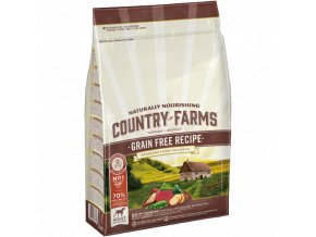 Country farms grain free adult dog hovězí 2,5kg