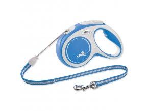 Vodítko FLEXI New Comfort lanko modré M - 5 m