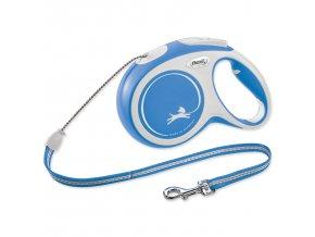 Vodítko FLEXI New Comfort lanko modré M - 8 m