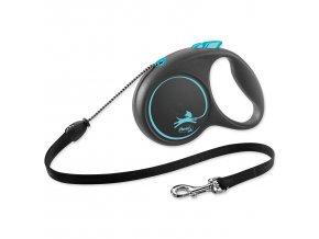Vodítko FLEXI Black Design lanko modré M - 5 m