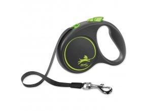 Vodítko FLEXI Black Design páska zelené S - 5 m