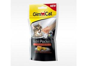 GIMCAT Nutri Pockets losos a omega 3 × 60 g