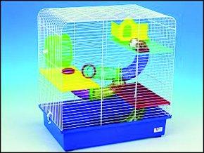 Klec SMALL ANIMALS CH5 bílá + modrá 1ks