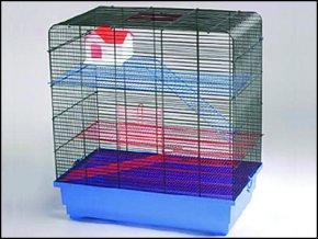 Klec SMALL ANIMALS Tom I chromová + modrá 1ks