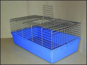 Klec SMALL ANIMALS K100N chromová + modrá 1ks