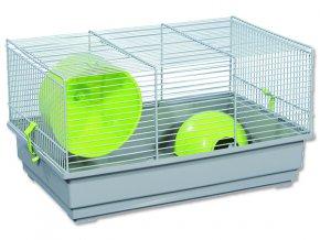 Klec SMALL ANIMALS Richard šedá se zelenou výbavou 1ks