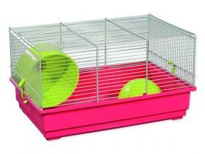 Klec SMALL ANIMALS Richard šedo-červená se zelenou výbavou 1ks