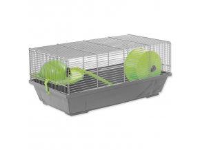 Klec SMALL ANIMALS Erik šedá se zelenou výbavou 1ks