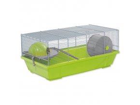 Klec SMALL ANIMALS Erik šedo-zelená s výbavou 1ks