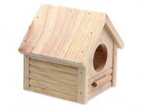 Domek SMALL ANIMALS budka dřevěný 12 x 12 x 13,5 cm 1ks