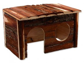 Domek SMALL ANIMALS dřevěný s kůrou 28 x 18 x 16 cm 1ks