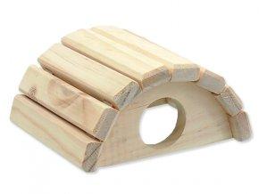 Domek SMALL ANIMALS půlkruh dřevěný 15 x 13 x 7,5 cm 1ks