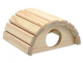 Domek SMALL ANIMALS půlkruh dřevěný 16,5 x 15 x 8 cm 1ks