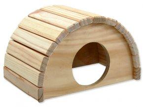 Domek SMALL ANIMALS půlkruh dřevěný 24 x 17 x 15 cm 1ks