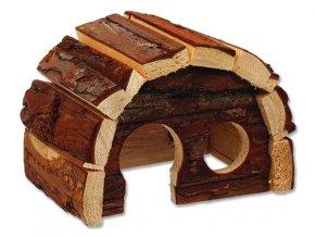 Domek SMALL ANIMALS Hobit dřevěný 15 x 10 x 9 cm 1ks
