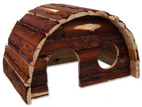 Domek SMALL ANIMALS Hobit dřevěný 36,5 x 22 x 20 cm 1ks
