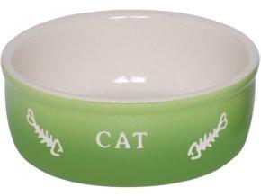 GRADIENT keramická miska pro kočky zelená 13,5x4,5cm/0,25l