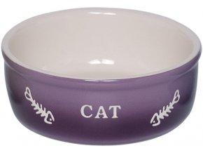 GRADIENT keramická miska pro kočky fialová 13,5x4,5cm/0,25l