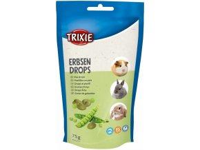 PEA DROPS - hráškové dropsy, pamlsek pro hlodavce, 75g