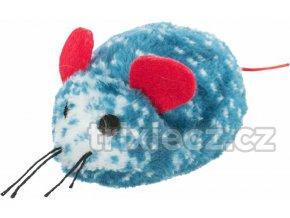 Vánoční plyšová figurka modrá myš, hvězda, perníček, 8-10cm