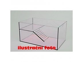 Želvárium lepené 30x15x21cm obsah:9litrů sklo:4mm