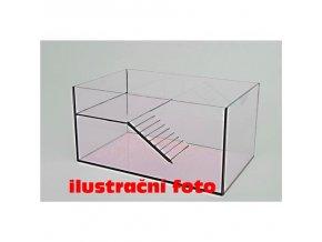 Želvárium lepené 40x25x26cm obsah:26litrů sklo:4mm