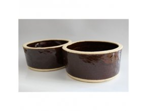 Krmítko dvojté 1l - keramika