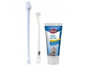 Sada dentální hygieny pro kočky (pasta, kartáčky)