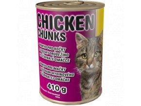 Delikan kuřecí kousky pro kočku 410 g